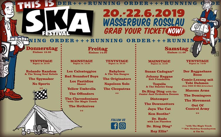 This Is Ska 2019 - timetable