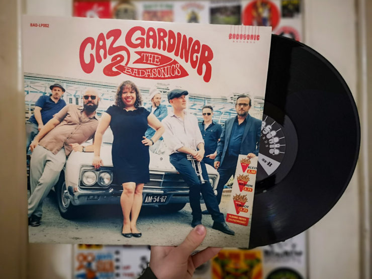 Caz Gardiner & The Badasonics record cover