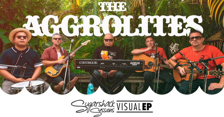 Band members of The Aggrolites in Sugarshack compound