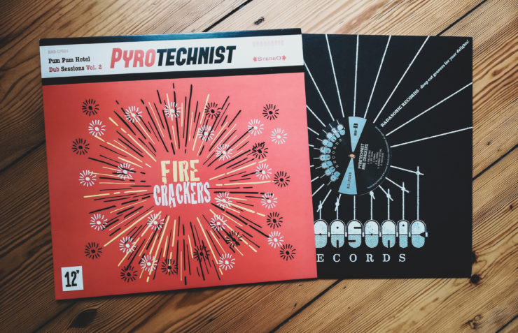"Vinyl record with ""Fire Cracker"" by Pyrotechnist"