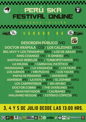 Poster 2nd day of Peru Ska Festival Online