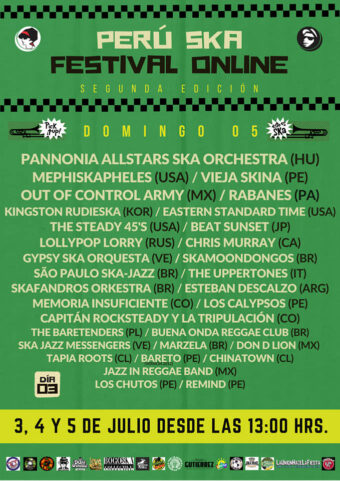 Poster 3rd day of Peru Ska Festival Online