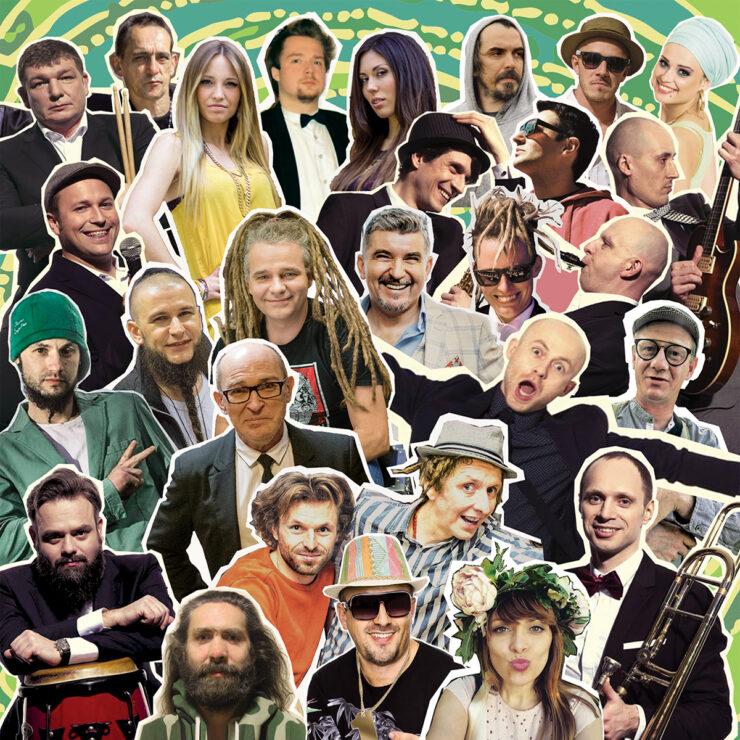 Mozaika zdjęć artystów z projektu Tribute to Alibabki