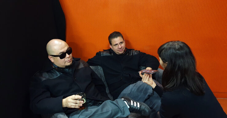 Roger Rivas and Jesse Wagner of The Aggrolites during an interview